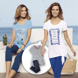 UP2FASHION® T-shirt com Leggings para Senhora