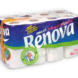 RENOVA® Rolos de Cozinha Maxiabsorption 2 Folhas