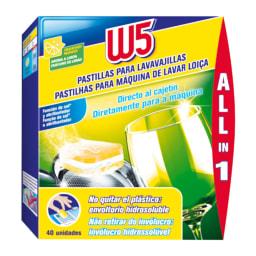 W5® Pastilhas para Máquina de Lavar Loiça All in 1 Limão