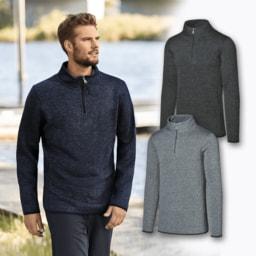 STRAIGHT UP® Camisola Polar com Fecho para Homem