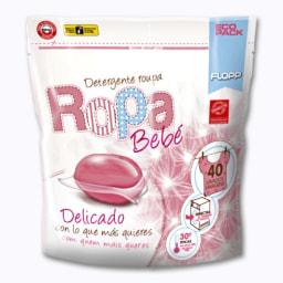 Detergente Cápsulas Roupa Bebé Antialérgico