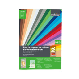 CRELANDO® Bloco de Cartolinas/ Papel Colorido