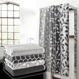 HOME CREATION® Toalha de Banho Grey & White