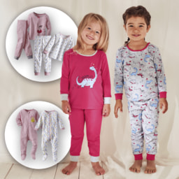 POCOPIANO® Pijama para Menina, Pack de 2