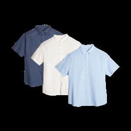 STRAIGHT UP® Camisa de Manga Curta para Homem, Tamanho Grande