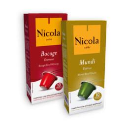 Cápsulas de café selecionadas NICOLA®