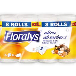 FLORALYS® Rolo Cozinha 3 Folhas XXL