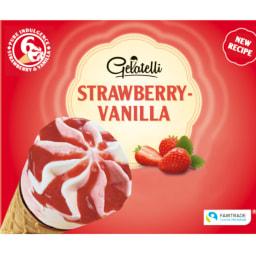 Gelatelli® Gelado de Cone  Baunilha e Chocolate/Morango