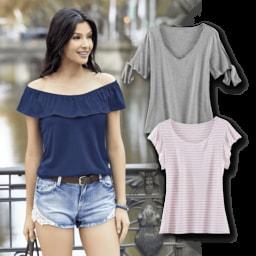 UP2FASHION® T-Shirt para Senhora