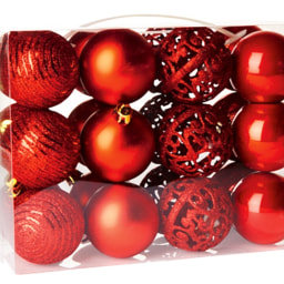 Bola para Árvore de Natal 24 Unidades