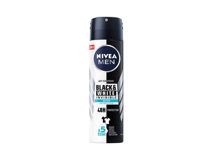 Nivea®Men Desodorizante Roll-On/ Spray Black&White Invisible Active