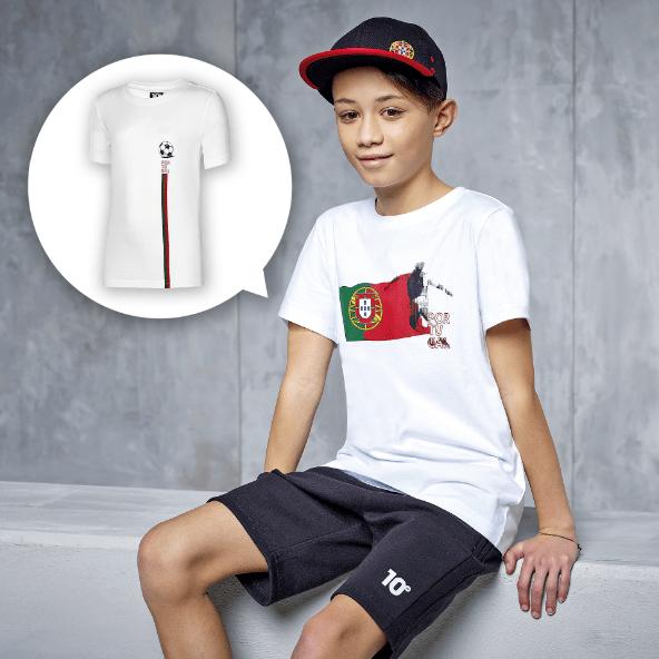 T-shirt Portugal para Criança