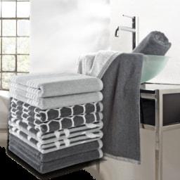 HOME CREATION® Toalha de Rosto Grey & White