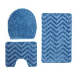 MIOMARE® Conjunto de Tapetes para Casa de Banho 3 Peças