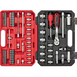 Powerfix® Conjunto de Chave de Caixa com Pontas 74 Peças