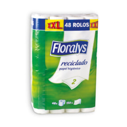FLORALYS® Papel Higiénico Reciclado 2 Folhas