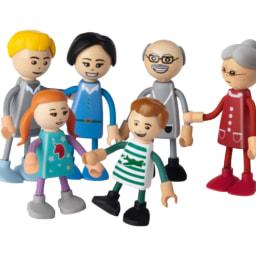 PLAYTIVE JUNIOR® Conjunto de Móveis/ Bonecos Miniatura em Madeira