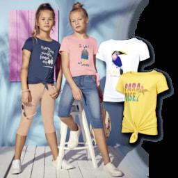 POCOPIANO® T-Shirt com Nó para Menina