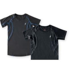 T-shirt Comprida Running Active Preta e Cinzenta