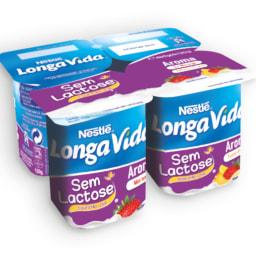 LONGA VIDA® Iogurte de Aroma Sem Lactose Tutti Frutti-Morango