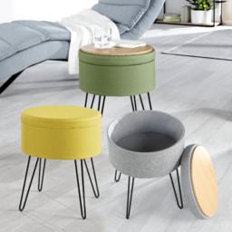 HOME CREATION® Banco com Pernas de Metal