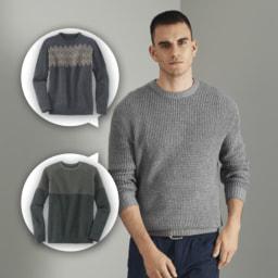 STRAIGHT UP® Camisola de Malha para Homem