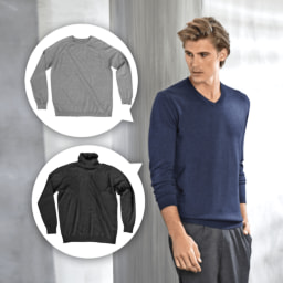 ROYAL CLASS® Camisola de Seda e Caxemira para Homem