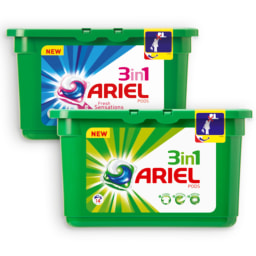 ARIEL® Detergente em Cápsulas para Roupa 3 em 1