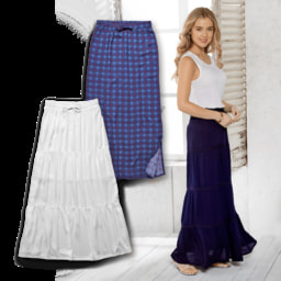 UP2FASHION® Saia Maxi para Senhora