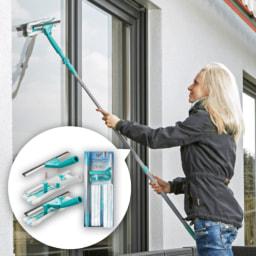 UNAMAT® Conjunto de Limpeza para Vidros com Cabo Extensível
